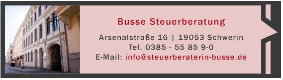 Steuerberaterin Andrea Busse - Kontakt